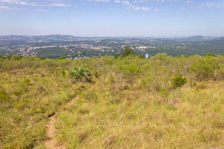 Trail and forest in Morro Santana mountain in Porto Alegre, Rio Grande do Sul, Brazil Banque d'images