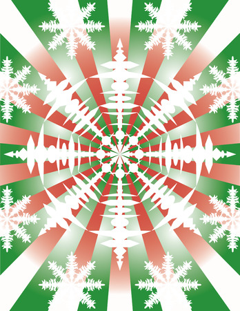 A vector snowflake burst background. Vector