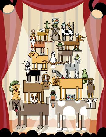 cirque: Il massimo in termini di trucchi da compagnia! Questi animali domestici effettuano vi stupir�.