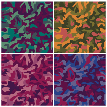 obscured: Seamless vector camouflage pattern in fashion colors.