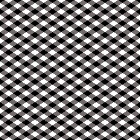 Naadloze gingham patroon in zwart en wit.