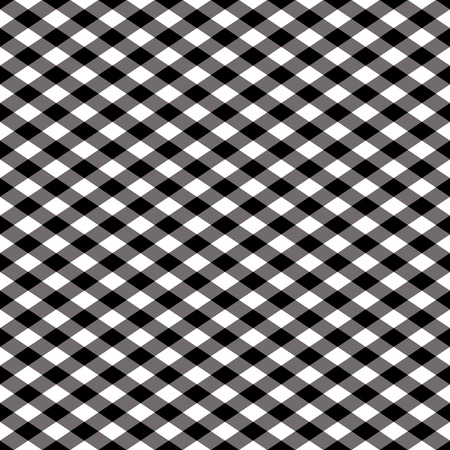 Seamless gingham pattern in black and white. Vector