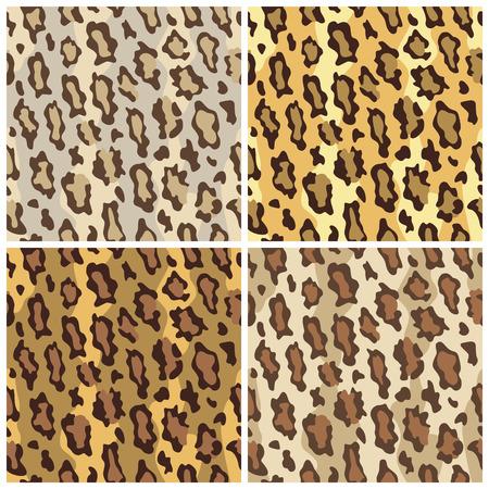 A seamless pattern of leopard spots in  Çizim