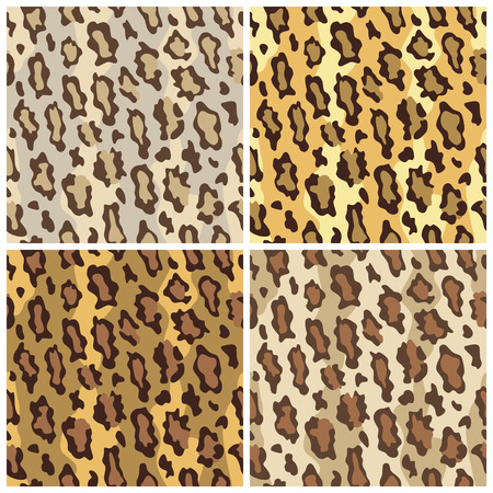 A seamless pattern of leopard spots in  Illustration