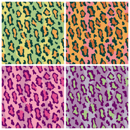 Een naadloze patroon van vlekken in luipaard