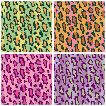 Un motif transparent des taches de léopard dans  Banque d'images - 5204496