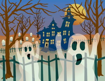 A Halloween illustration of  Vector