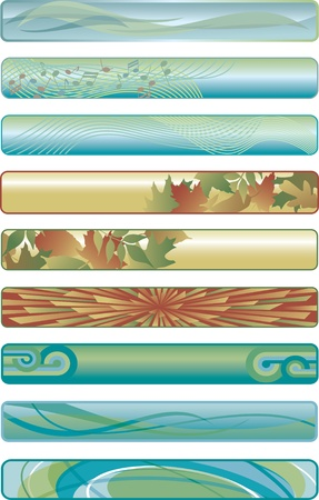 Assorted Web Banners Vector