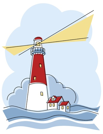 Classic Lighthouse Illustration