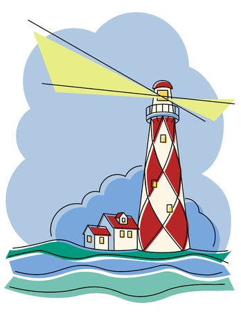 Diamond Lighthouse Vector