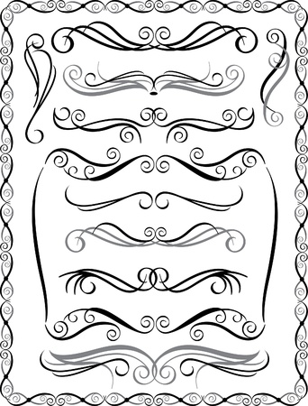 Collection #2 of decorative borders and dividers.