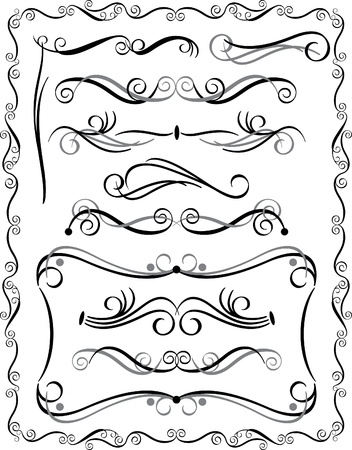 Collection #3 of decorative borders and dividers.