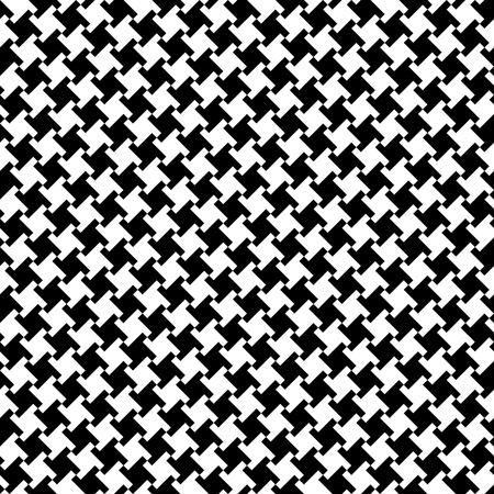 Vector naadloos houndstoothpatroon in zwart-wit. Stock Illustratie