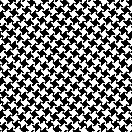 Vector seamless houndstooth pattern in black and white. Vector