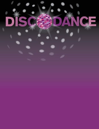 eighties: Disco dance background with area for text. Illustration