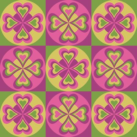 pennsylvania: Vector pattern of hearts and circles.