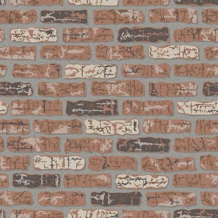 Vector seamless classic brick wall pattern.