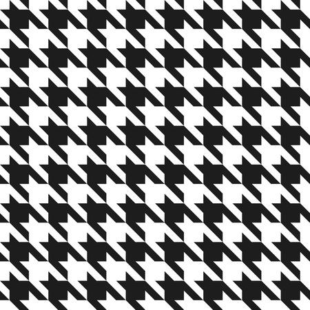 古典的な houndstooth のシームレスなパターン。