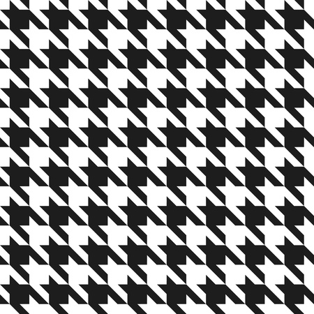 60's: Classic houndstooth seamless pattern. Illustration