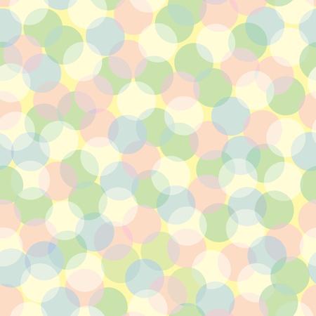 colors: Seamless pattern of pastel-colored defocused lights. Illustration