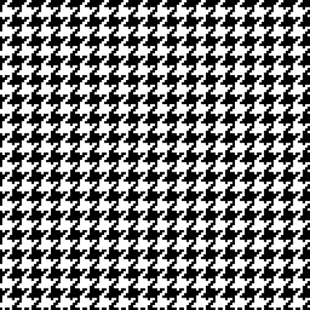 Vector houndstooth pattern #1 in black and white. Ilustração