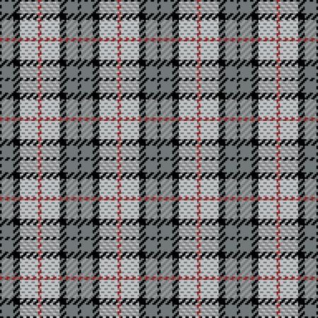 ベクトル グレー赤のストライプとでのシームレスな格子縞のパターン。  イラスト・ベクター素材