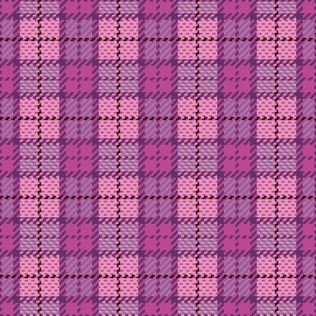Vector seamless plaid pattern in magenta and violet. Vector
