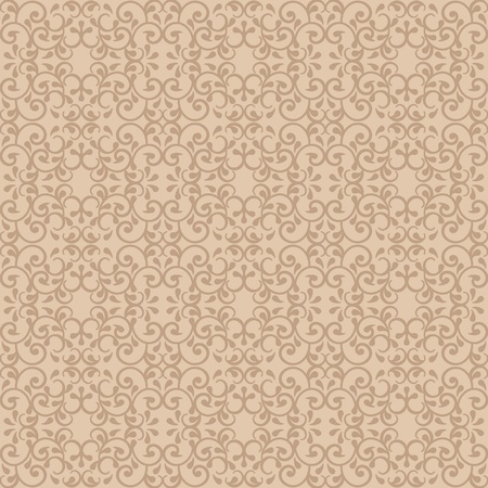 Fashionable seamless pattern with a vintage style in neutral colors. Ilustração