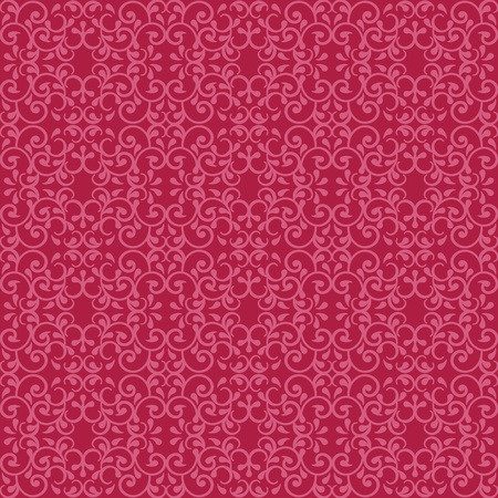 Fashionable seamless pattern with a vintage style in red and pink.