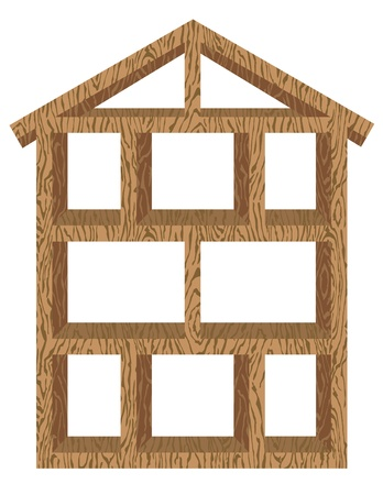 a wooden house. Ilustrace