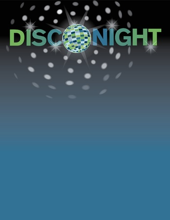 Disco dance background with area for text. Stock Vector - 9756092