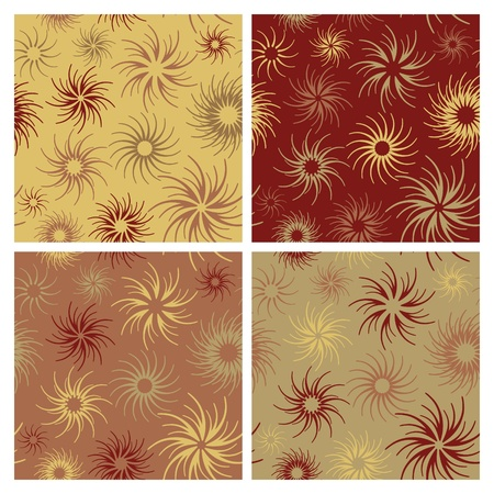 Abstract seamless pattern in four colorways. 向量圖像
