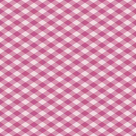 ベクトルのピンクのシームレスな格子縞のパターン。