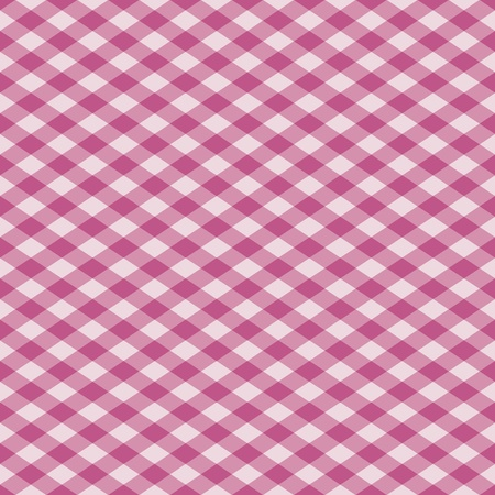 gingham: Vector seamless plaid pattern in pink. Illustration