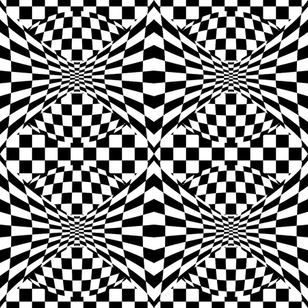Seamless op art background pattern #1.