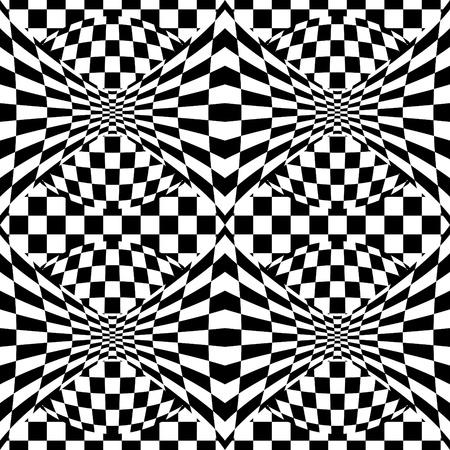 Seamless op art background pattern #1. Vector