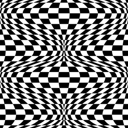 Seamless op art background pattern #2. Vector