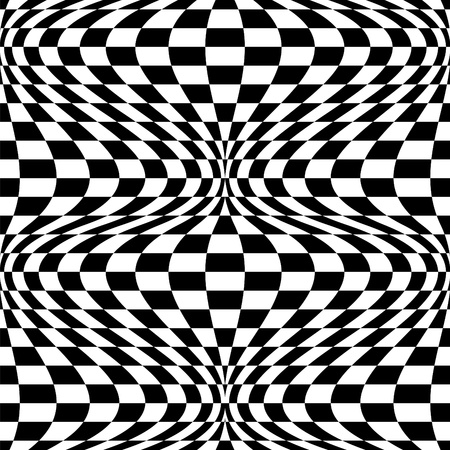 Seamless op art background pattern #2. Vector