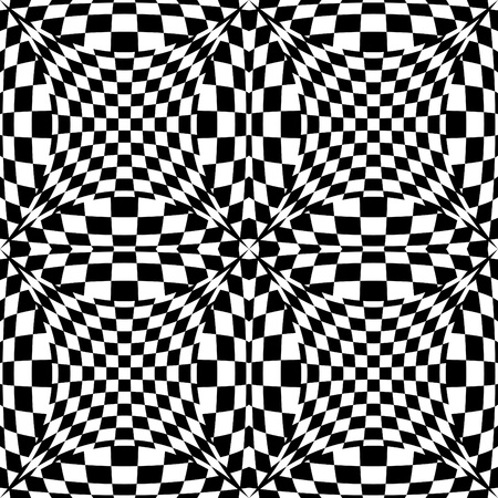 Seamless op art background pattern #3.