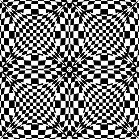 Seamless op art background pattern #3. Stock Vector - 9756042