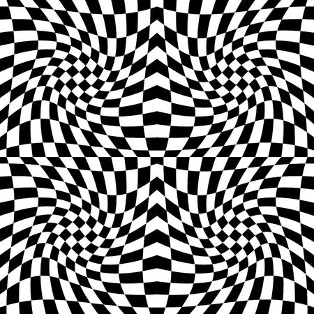 Seamless op art background pattern #5. Vector