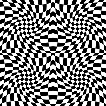 Seamless op art background pattern #5. Vector