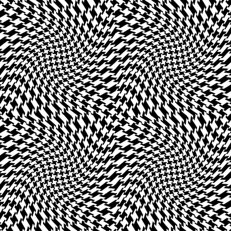 Vector seamless op art houndstooth pattern.