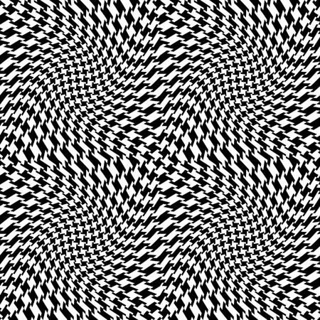 Vector seamless op art houndstooth pattern.  Stock Vector - 9756094