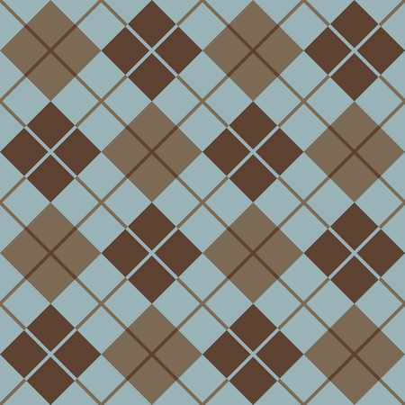 Trendy seamless argyle pattern in blue and brown.