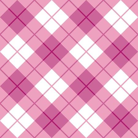 Naadloze diagonaal plaid patroon in roze