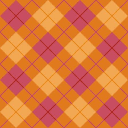 핑크와 오렌지 원활한 대각선 격자 무늬 패턴