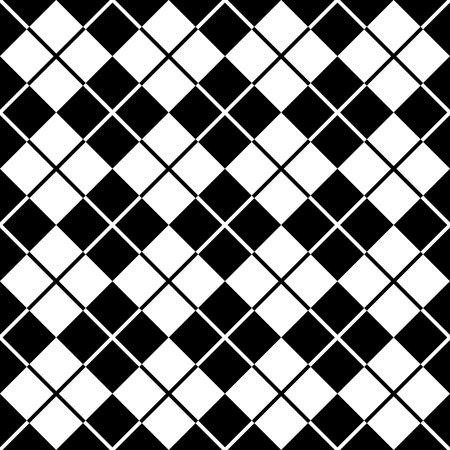 블랙과 화이트의 아가일 무늬 일러스트