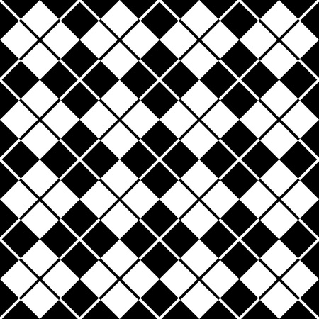 Argyle Pattern in Black and White Vector