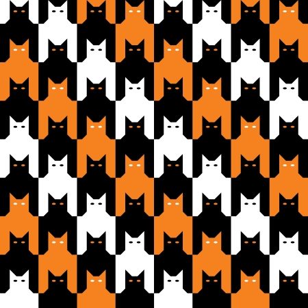 CatsTooth Halloween Pattern Vector